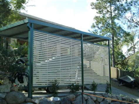 Carport Privacy Screen colorbond aluminium carport garage privacy screens superior screens