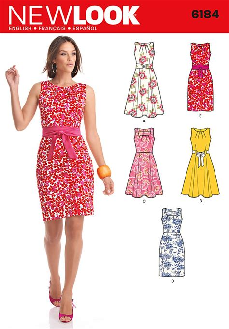 pattern sewing online new look 6184 misses dress