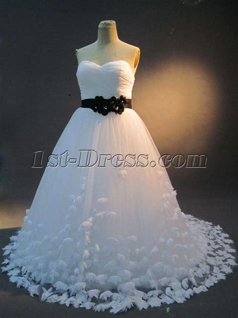 White And Black Plus Size Bridal Gown Img 2317 1st Dress