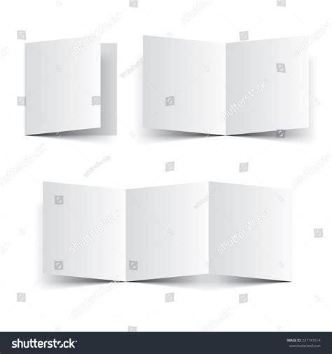 Paper Booklet Folding - blank paper template booklet brochure or leaflet vector