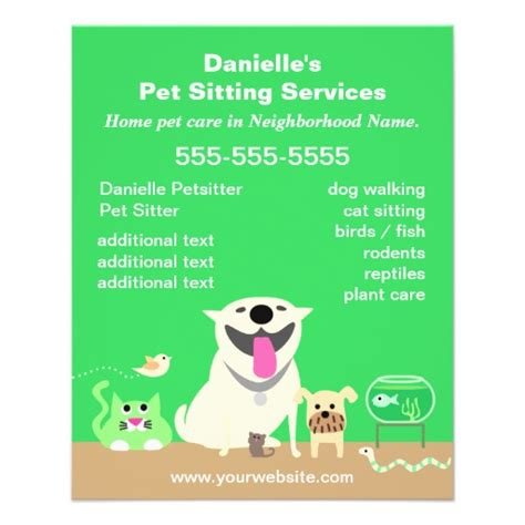 pet flyer templates free pin pet sitting flyers templates on
