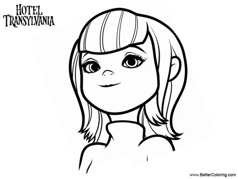 hotel transylvania coloring pages mavis from hotel transylvania coloring pages free