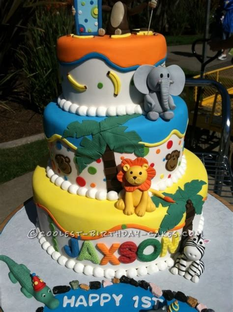 zoo themed birthday cake ideas coolest zoo themed birthday cake