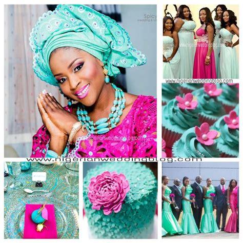 magenta color combination nigerian wedding sea green magenta wedding color scheme