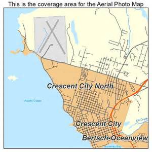 map of crescent city california aerial photography map of crescent city ca california