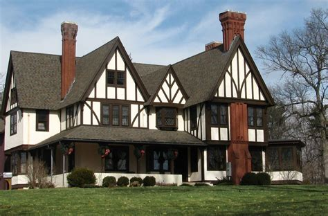 English Tudor Home English Tudor Exterior Paint Colors English Tudor