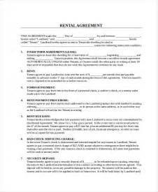 rental contracts templates free rental contract 10 free pdf word documents