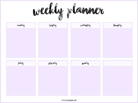 weekly planner  printable weekly planner
