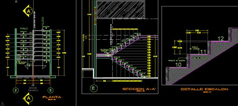 stair details  autocad cad   mb bibliocad