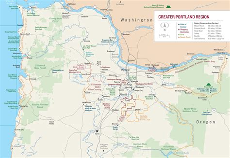 portland usa map greater portland map