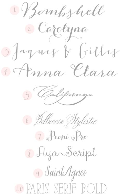 Wedding Fonts by Typeface Tuesday Wedding Fonts Design Fixation