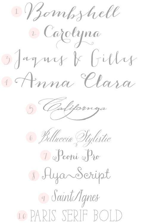 {Typeface Tuesday} Wedding Fonts   Design Fixation