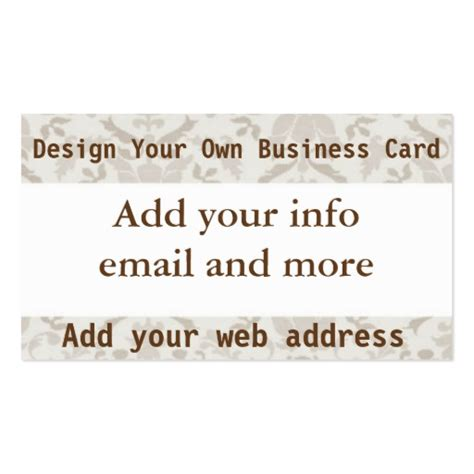 make your own business cards design your own business card zazzle