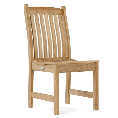 Teak Wood Dining Chairs Veranda Teak Wood Dining Side Chair Westminster Teak Outdoor Furniture