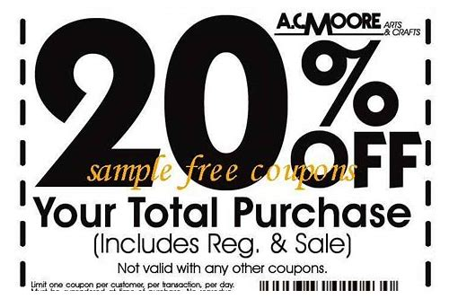 ac moore discount coupon codes