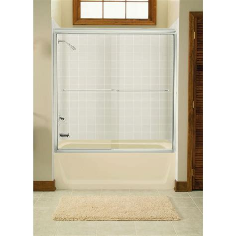 Sterling Bathtub Doors by Sterling Finesse 59 5 8 In X 58 1 16 In Semi Frameless