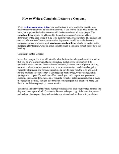 Complaint Letter Conclusion Complaint Letter Writing Tips