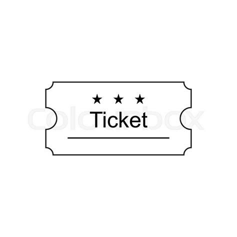 ticket icon in the outline style ticket vector