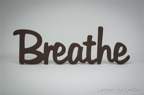 Sign Words wooden wall word decor breathe wooden wall sign wooden
