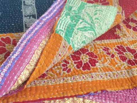 Quilts From India by Reversible Vintage Kantha Quilts Throw From India On Storenvy
