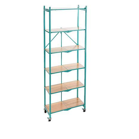 origami storage shelves origami 6 tier rack with wooden shelves 8500639 hsn