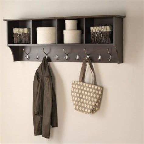 entryway storage shelf with hooks and by knot2shabbycustomcre hanging entryway cubbie wall shelf coat rack hook storage