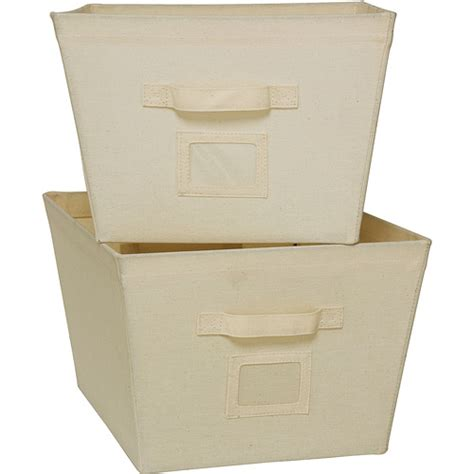 canvas storage bins mainstays 2 all purpose home storage canvas bins large