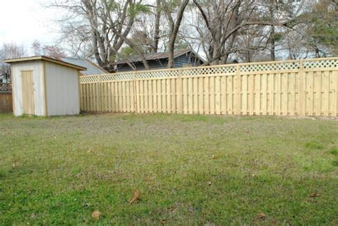 backyard wood fence yard fencing