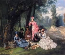 The Picnic The Picnic Painting Antonio Garcia Y Mencia Painting