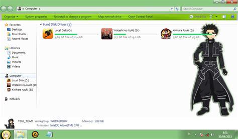 download theme windows 7 zetsuen no tempest kirito sword art online windows 7 theme