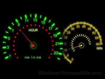 themes clock speed speed color screensaver 2 2 free download