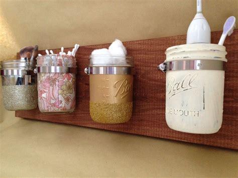 jar wall storage organizer for the home