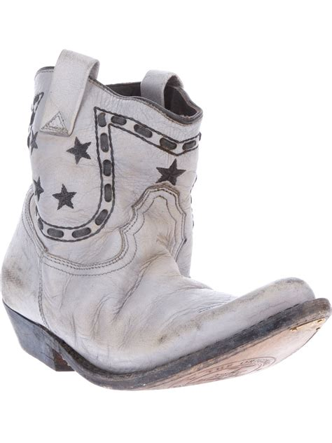 Golden Goose Cowboy Boots by Golden Goose Deluxe Brand Cowboy Boots In Gray Lyst