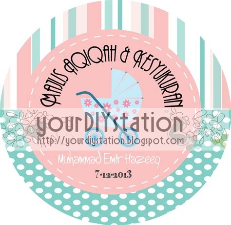 design tag aqiqah do it yourself sticker aqiqah