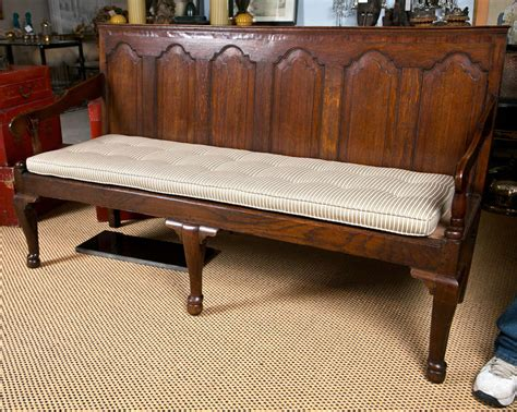 antique hall bench antique english oak high style hall bench with striped