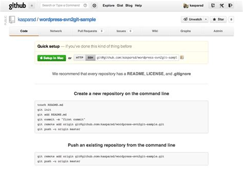 github tutorial for svn users using git with subversion mirroring for wordpress plugin