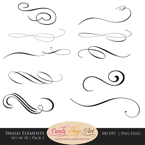 Wedding Fonts Commercial Use by Swashes Swirls Calligraphy Swashes Clip Digital
