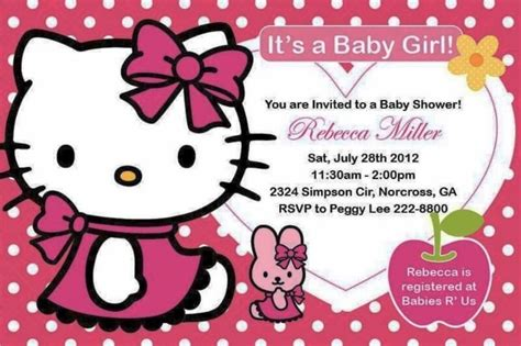 invitation layout hello kitty hello kitty baby shower invitations theruntime com