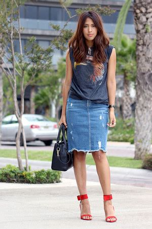 denim skirt how to wear and where to buy chictopia