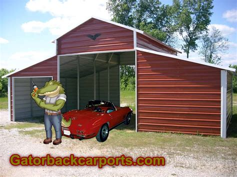Open Carports For Sale Carports Metal Carports Metal Garages Barns Gatorback
