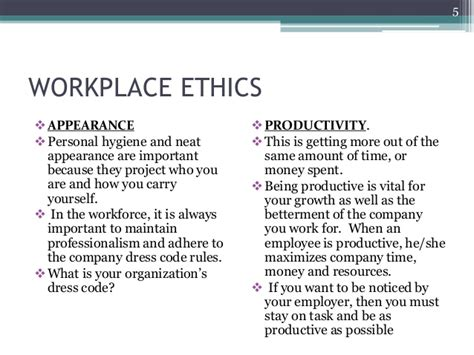 workplace ethics