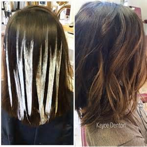 how to highlight layered hair balayage hand painted highlights schwarzkopf blonde me