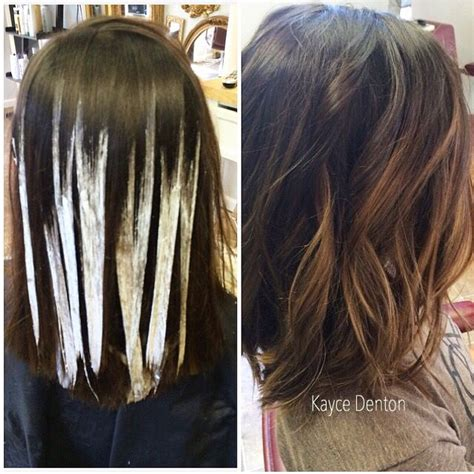 diy highlights for med brown balayage hand painted highlights schwarzkopf blonde me
