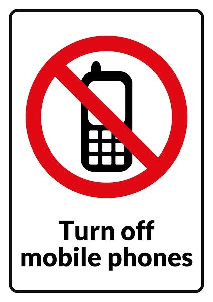 not mobile no mobile phone sign clip 18