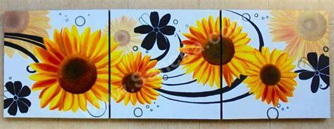 Bunga Bali Kembang Matahari p3 49 lukisan minimalis set bunga matahari sancita