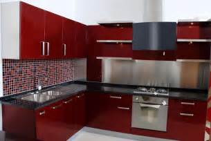 Red Kitchen Cabinets kitchen classy simple red kitchen cabinets barn red