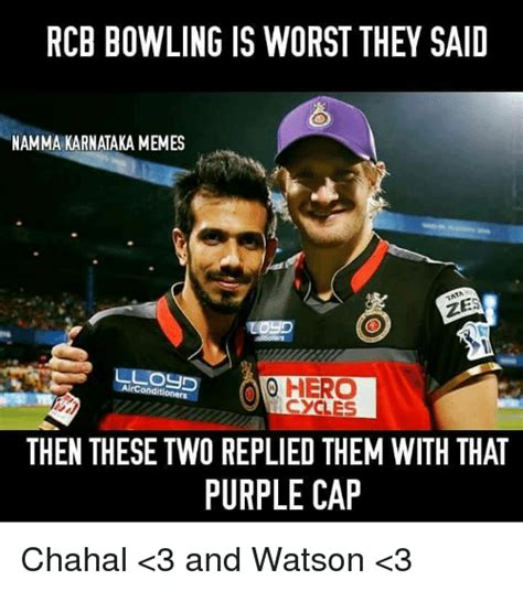 Rcb Memes - rcb bowling is worst they said namma karnataka memes ao hero rconditioners cycles then these two