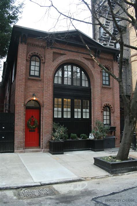 brownstone house black trim red door exterior brownstone homes