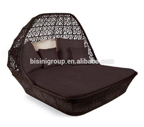 chaise longue jardin 692 rotin bisini chaise longue en osier avec la verri 232 re bf10