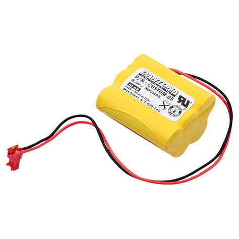 Baterai Lu Emergency 6 Volt Ultralast Green Dantona 6 Volt 800 Mah Ni Cd Battery For Light Alarms Tetg Emergency Lighting
